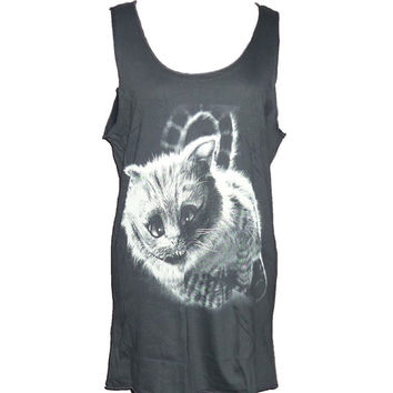 Cat tank top meow monster shirt size M medium **tank tops **sleeveless tank **woman tee shirt **animal clothes