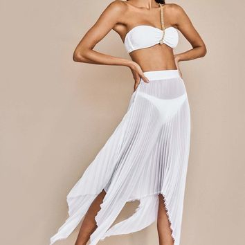 Sauvage Asymmetrical Draped Skirt
