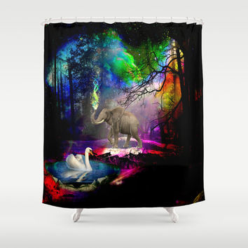 Fantasy forest Shower Curtain by Haroulita