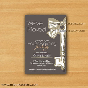 housewarming invitation, New house KEY design Invitation Card | We have moved Invitation Card Design - card 191