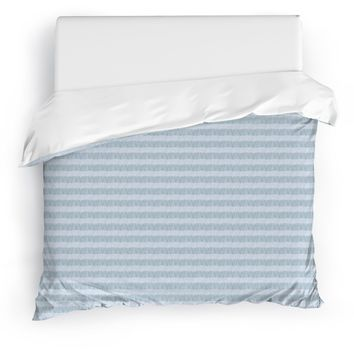FLAPPER BLUE Duvet Cover By Tiffany Wong