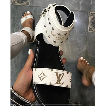 Louis Vuitton Lv One Word With Flat Bottom High Boots-1