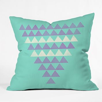 Allyson Johnson Purple Triangles Throw Pillow