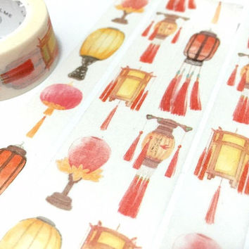 paper lantern washi tape 7M vintage lamp retro lighting chinese lantern Japanese lantern vintage lighting antique lanterns Asian art decor
