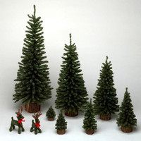 6 inch  Mini Pine Artificial Christmas Tree Unlit
