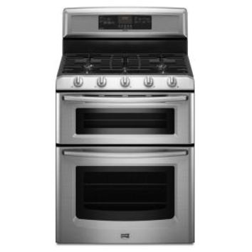 Maytag, Gemini 6 cu. ft. Double Oven Gas Range with Self-Cleaning Convection Oven in Stainless Steel, MGT8775XS at The Home Depot - Mobile