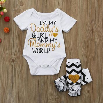 I'm My Daddy's Girl And My Mommy's World Infant Baby Onesuit Bodysuit