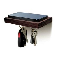 Smartphone Wood Holder w/Magnetic Keyhook