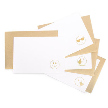 The Golden Emojis Collection Mixed Notecards Box Set