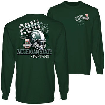 Michigan State Spartans 2014 Rose Bowl Bound Long Sleeve T-Shirt - Green
