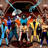 Mortal Kombat II Cast Video Game Poster