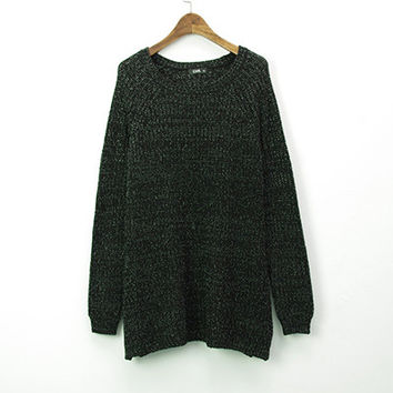 Women Wool Oversized Loose Knitted Pullover Jumper Sweater