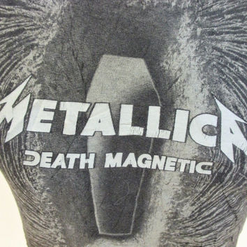 Retro Metallica Death Magnetic T-Shirt Small Tour Music Band Work Day