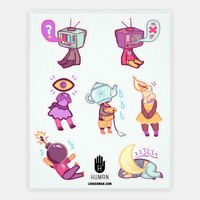 Object Head Stickers | Stickers, Sticker Sheets and Vinyl Stickers | HUMAN
