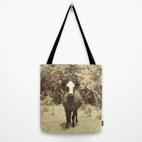 cow in field Tote Bag by Studio Buena Onda | Society6