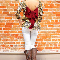 Whole Wild World Blouse - Burgundy - Restock