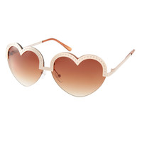 ASOS Heart Shape Sunglasses