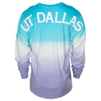 Official NCAA University of Texas at Dallas Comets UTD Temoc Women's Long Sleeve Ombre Spirit Wear Jersey T-Shirt