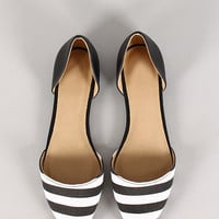 Diver-S Striped Pointy Toe Flat