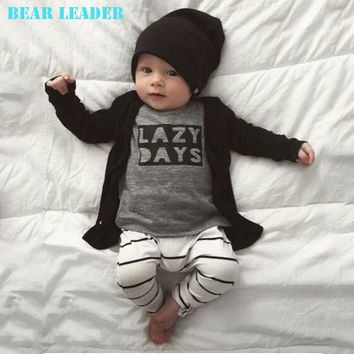 2016 Spring Autumn baby boy clothes baby clothing sets cotton long-sleeved Letter T-shirt+pants Newborn baby girls clothing sets