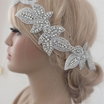 Rhinestones Wedding Headband bridal headband, wedding headband, headpiece, Wedding hair accessories