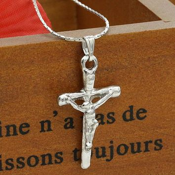 N611 Jesus Piece Pendant Necklace Cross Chian Collares Necklace For Women Fashion Jewelry Accessories Amulet