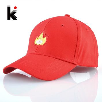 Trendy Winter Jacket Snapback Dad Hats For Men Cotton Baseball Cap Women Flame Embroidery Hip Hop Bone Mosculino Spring Summer Casual Casquette Homme AT_92_12