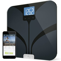 Weight Gurus Bluetooth Smart Connected Body Fat Bathroom Scale with Large Backlit LCD