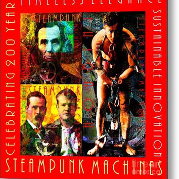 Steampunk Machines Celebrating 200 Years Of Timeless Elegance And Sustainable Innovation 20140515 C7 Metal Print