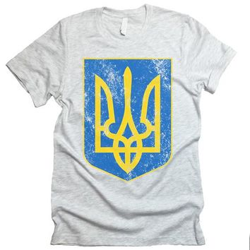 Tryzub T shirt. Coat Of Arms Ukraine