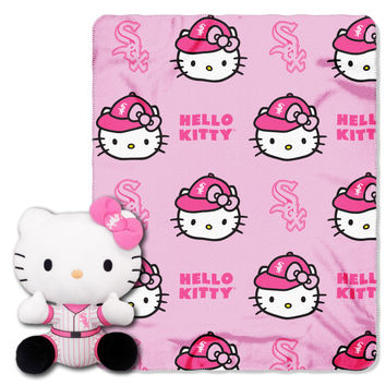 White Sox  40x50 Fleece Throw and Hello Kitty Character Pillow Set