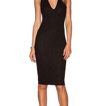 Nookie Catch & Kiss Cross Back Dress in Black