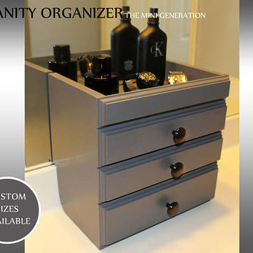Vanity Organizer, makeup organizer , brushes, perfumes, nail polish ,  Drawers, Lipstick Storage , Cosmetic Storage, Mother's Day Gift,