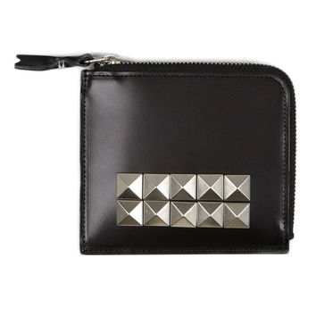 Silver Tone Studded Wallet by Comme des Garçons