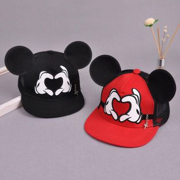 Summer Baby Kids Baseball Cap Cartoon Cute Big Ear Snapback Adjustable Caps Boys Girls Children Flat Hip Hop Hat