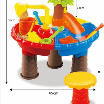 Kids Toddler Sand Water Play Table, Beach Play Set Toys Garden Sandpit Sandbox Desk Toys