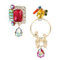 GRANNY CHIC MISMATCH EARRINGS: Betsey Johnson