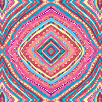 Bright Gypsy Bohemian Abstract Pattern Art Print by TigaTiga Artworks