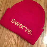 Red swerve. Knit Beanie