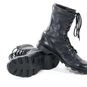 Best Black Military Boots Products on Wanelo