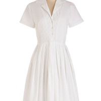 Myrtlewood Long Short Sleeves Shirt Dress Mod of Approval Dress in Cloud