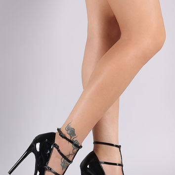 Liliana Pointy Toe T-Strap Pump