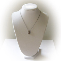 Sterling Silver Round Cut Citrine Pendant with 18 Inch Sterling Silver Chain
