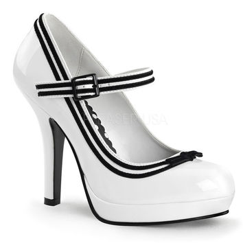 Secret White Patent Baby Doll Pumps