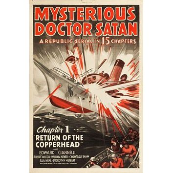 Mysterious Doctor Satan poster Metal Sign Wall Art 8in x 12in