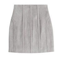 Balmain - Suede Mini Skirt