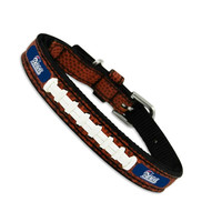 GameWear NFL Football Leather Dog Collar — New England Patriots