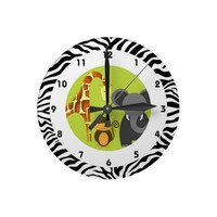 Jungle Themed Kid's Bedroom Clock