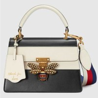 DCCKH3L Gucci' Women Fashion Personality Multicolor Single Shoulder Messenger Bag Bee Lock Handbag