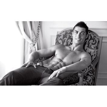 Shirtless Cristiano Ronaldo Poster La Liga club Real Madrid Portuguese National Team 20x30 Photo